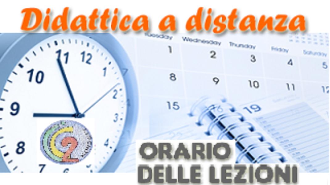 ORARIO DELLE LEZIONI A DISTANZA DI SCUOLA SECON...